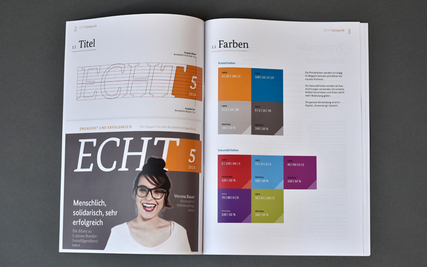 Corporate Design des Echt-Magazins des Bundesfreiwilligendienstes