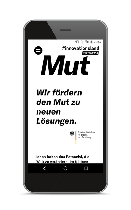 Website zur Kampagne #innovationsland Deutschland