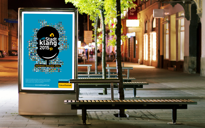 "Plakat zur Citizen-Science-Aktion ""Stadtklang 2015"""