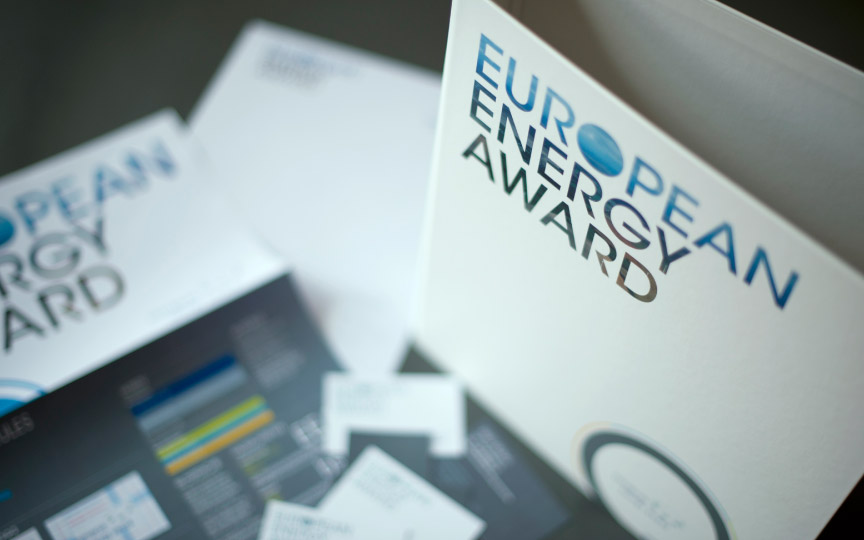 Blick ins Corporate Design Manual des European Energy Awards
